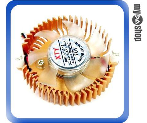 《DA量販店A》鋁製 太陽 顯示卡專用 風扇散熱片 孔距 5.6cm 電源 mini 2PIN (23-076)
