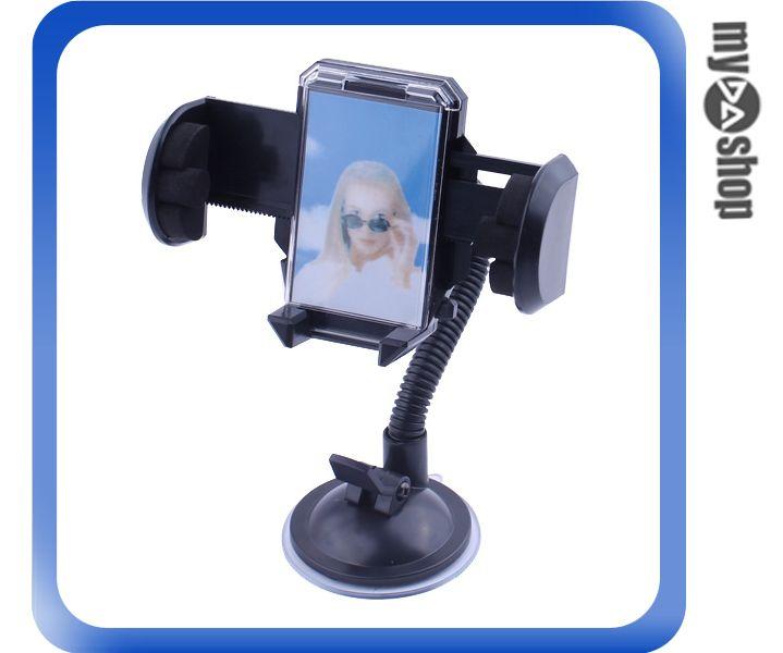 ~DA量販店H~  手機 PDA 萬用型車架 五段吸盤 油壓式夾爪 可自由變曲 ^(28~