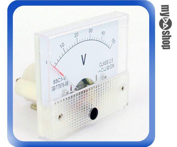 直流電壓計 電壓表 指針 盤用方型 85C1-V 0~50V CLASS-2.5(34-115)