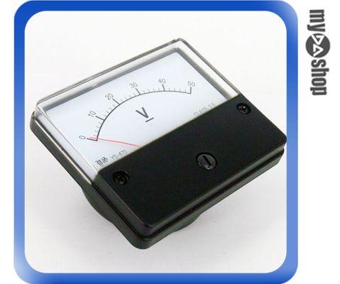 《DA量販店F》全新 直流電壓計 電壓表 指針 盤用方型 YS-670 0~50V CLASS-2.5(34-118)
