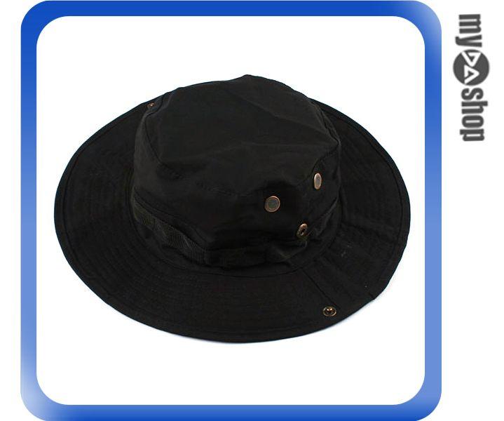 《DA量販店》經典 潮流 ACU CP 軍用 黑色 叢林 迷彩 圓邊 漁夫 帽 登山 踏青 (64-023)