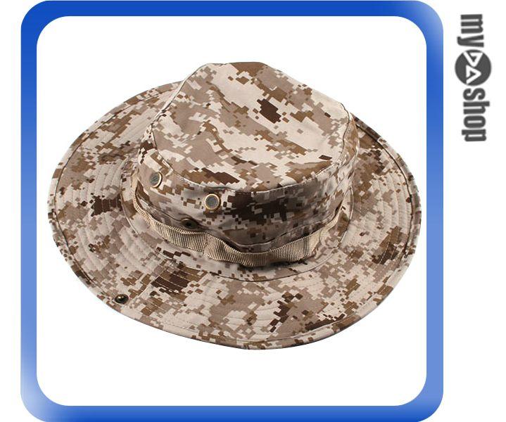 《DA量販店》經典 潮流 ACU CP 軍用 德國 叢林 迷彩 圓邊 漁夫 帽 登山 踏青 (64-026)