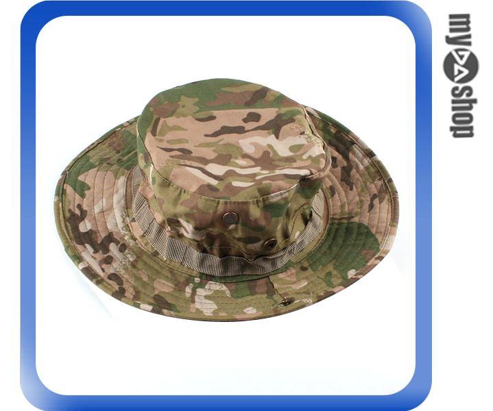 《DA量販店》經典 潮流 ACU CP 軍用 特警 叢林 迷彩 圓邊 漁夫 帽 登山 踏青 (64-027)