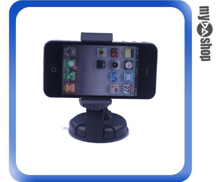 《DA量販店》汽車 車用 汽車 360度 夾子式 手機架 汽車支架 強力吸盤(78-0807)