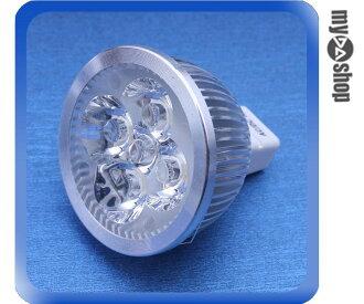 《DA量販店》MR16 1W 4顆LED 燈泡 LED燈 節能燈 省電燈泡 12V適用 暖白光(78-1080)