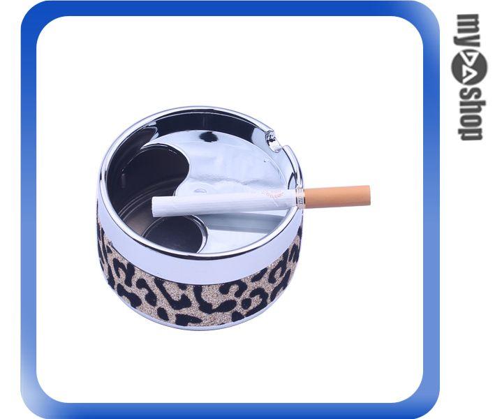 《DA量販店》創意 豹紋 造型 菸灰缸 煙灰缸 煙具 居家 辦公室 擺設(78-2919)