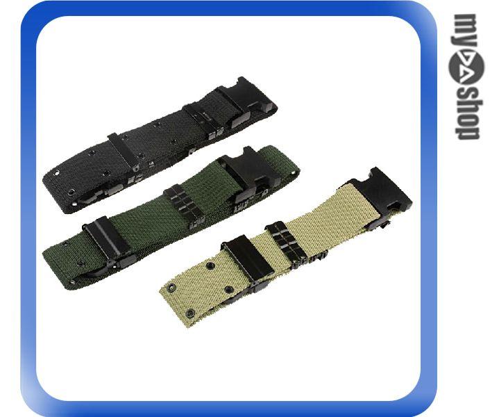 《DA量販店》戶外 生存遊戲 戰術 尼龍 S帶 外腰帶 腰帶 掛帶 黑色(79-0905)