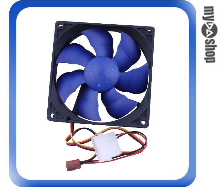 《DA量販店》電腦 周邊 主機 散熱 9cm 風扇 藍色 3PIN電源 液壓軸承 超靜音(79-2552)