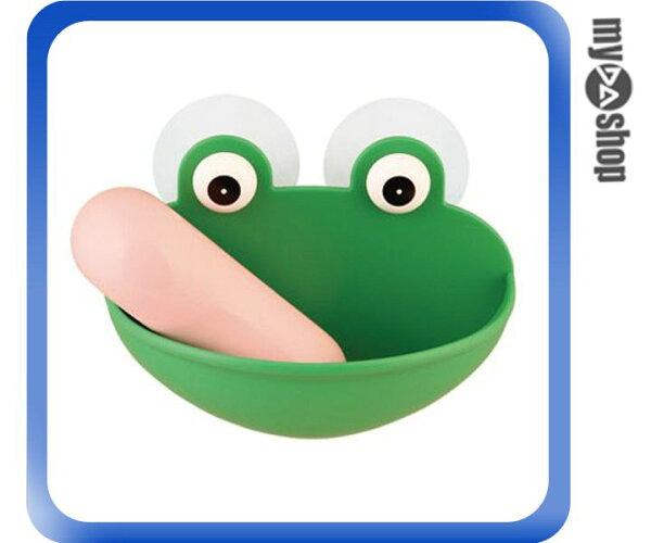 《DA量販店》居家生活肥皂盒青蛙動物吸盤式肥皂架(79-4904)