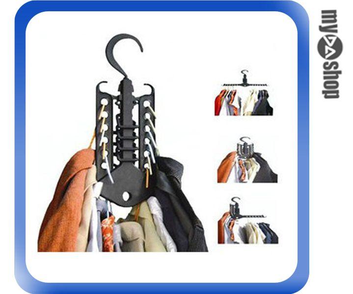 《DA量販店》居家 多功能 省空間 神奇 衣架 直立式 收納 13孔 收納方便(79-4971)