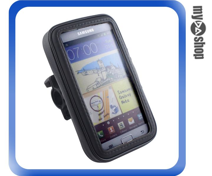 《DA量販店》戶外 單車 腳踏車 自行車 車架 防水 手機袋 Samsung i9200 Mega(79-5132)