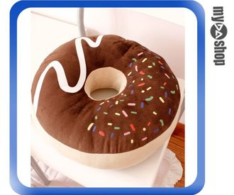 《DA量販店》韓國 造型 巧克力 單孔 甜甜圈 坐墊 椅墊 靠墊 抱枕 棕色 附真空收納袋(79-6876)