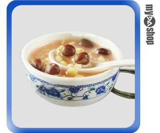 《DA量販店》仿真食物 袖珍 禮物 禮品 婚禮小物 食物 青花瓷 鑰匙圈 紅豆湯(80-0591)