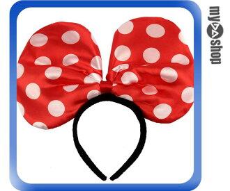 《DA量販店》LED 活動 演唱會 螢光 閃光 蝴蝶結 發光 髮箍 髮飾 紅色(80-0642)