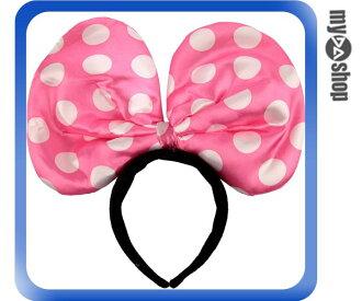《DA量販店》LED 活動 演唱會 螢光 閃光 蝴蝶結 發光 髮箍 髮飾 粉紅色(80-0644)