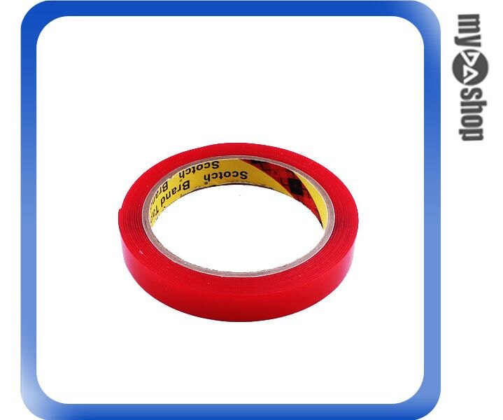 ~DA量販店~汽車  改裝 3M 無痕 強力 黏度 膠帶 15MM^~3M 紅色 透明^(