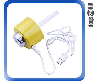 《DA量販店》韓國 usb 瓶蓋 水氧機 超靜音 負離子 加濕器 黃色(80-0975)