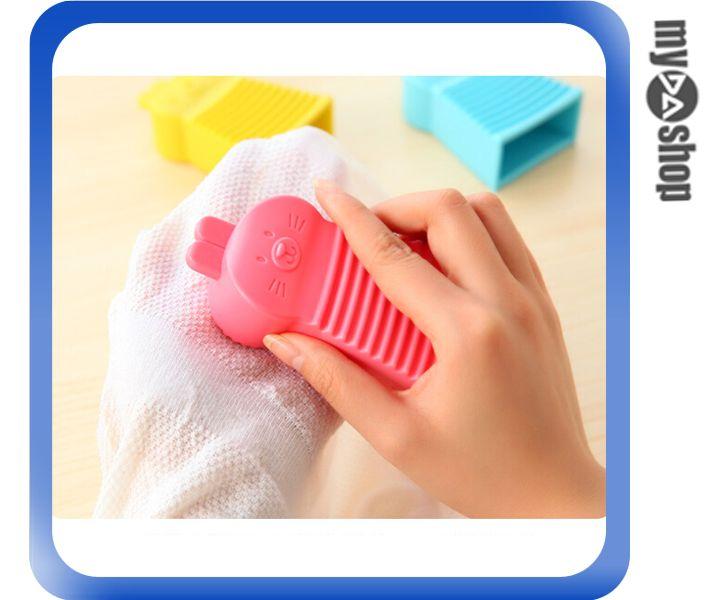 《DA量販店》日式 糖果色 迷你 手握 兔子 清潔衣物 洗衣板 搓衣板 顏色隨機(80-1037)