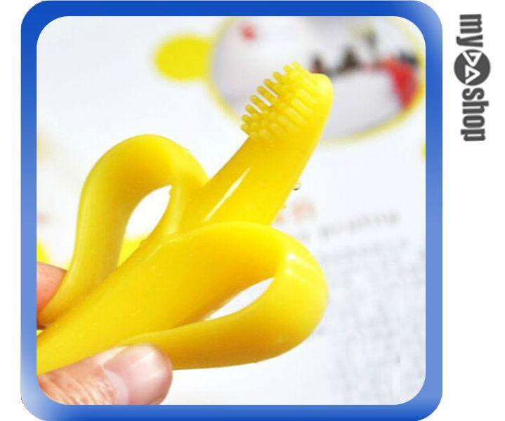 《DA量販店》創意 生活 兒童 香蕉 造型 磨牙器 牙刷 顏色隨機(80-1042)
