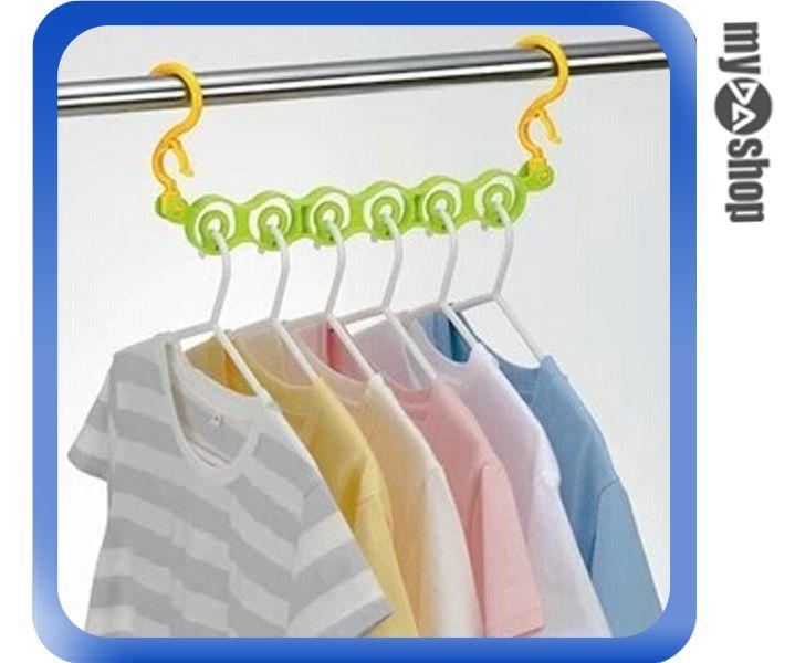《DA量販店》生活 居家 一秒 收衣 衣架固定器 衣架 曬衣小幫手 顏色隨機(80-1056)