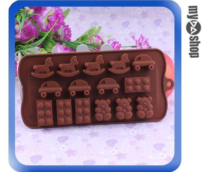 《DA量販店》廚房 冰塊 模具 木馬 小熊 製冰器 製冰格 製冰盒 模型 巧克力(80-1120)