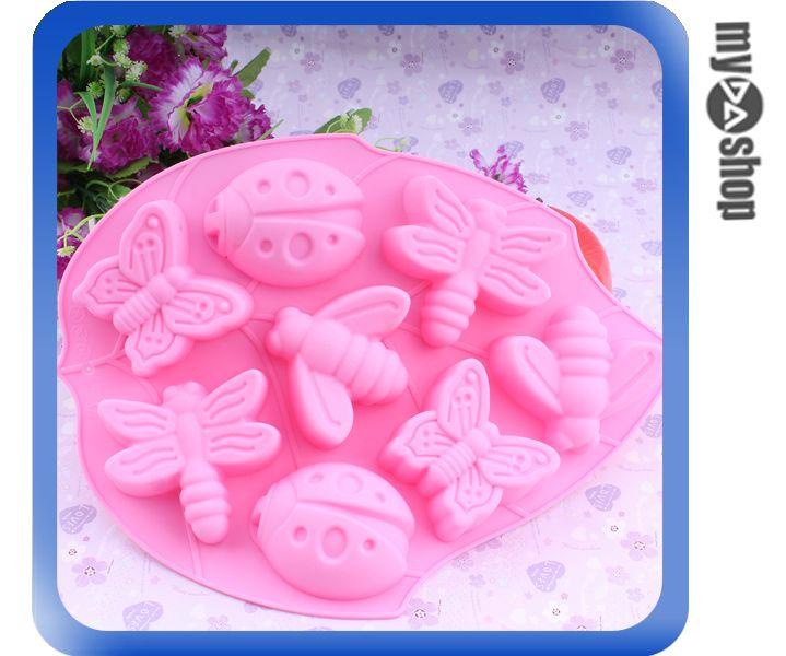 《DA量販店》廚房 冰塊 模具 昆蟲造型 製冰器 製冰格 製冰盒 模型 蛋糕(80-1124)