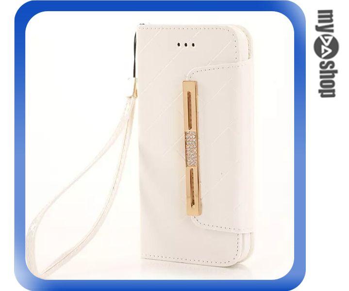 《DA量販店》Apple iphone6 4.7吋 亮面 手提 掛繩 皮套 保護套 手機套 白色(80-1202)