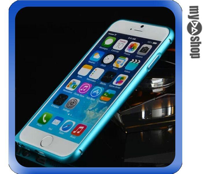 《DA量販店》APPLE 蘋果 iphone6 4.7吋 弧邊 金屬 邊框 海馬扣 淺藍色(80-1262)