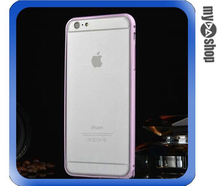 《DA量販店》APPLE 蘋果 iphone6 plus 5.5吋 弧邊 金屬 邊框 海馬扣 粉紅色(80-1267)