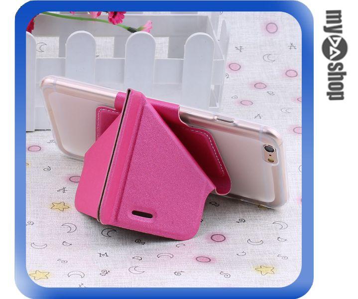 《DA量販店》變形金剛 蘋果 iphone6 軟殼 翻蓋 皮套 手機套 支架 桃紅色(80-1432)