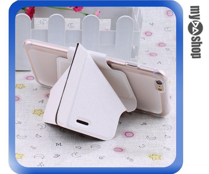 《DA量販店》變形金剛 蘋果 iphone6 軟殼 翻蓋 皮套 手機套 支架 白色(80-1435)