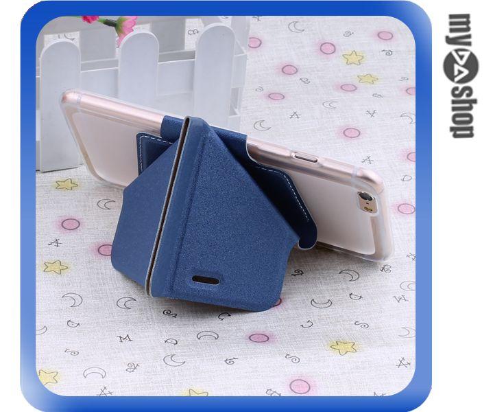 《DA量販店》變形金剛 蘋果 iphone6 軟殼 翻蓋 皮套 手機套 支架 藍色(80-1436)