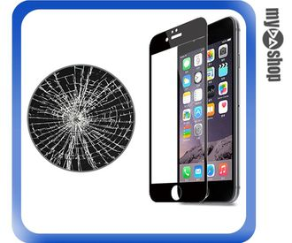 《3C任選三件9折》蘋果 iphone6 plus 5.5吋 奈米 原色 滿版 鋼化 玻璃保護貼 黑色(80-1474)