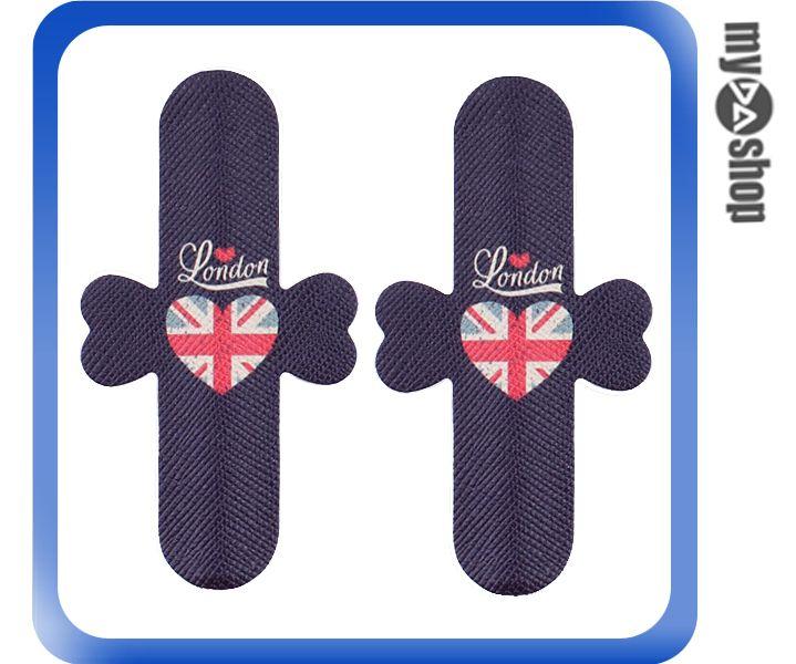 《DA量販店》彩繪 魔力貼 U型 手機 支架 2入 英國 英倫風情(80-1512)