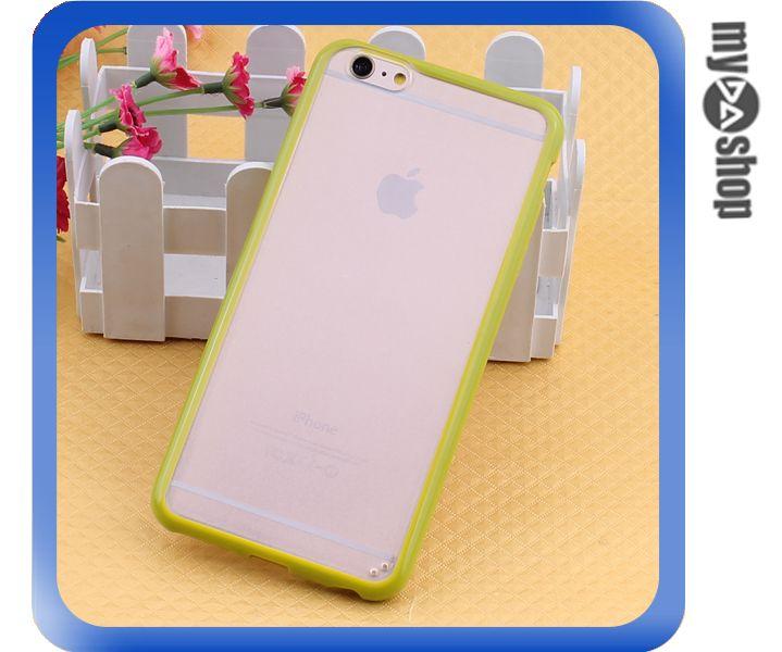 《DA量販店》蘋果 iphone6 4.7吋 糖果色 PC+TPU 透明 磨砂 手機殼 亮黃色(80-1545)