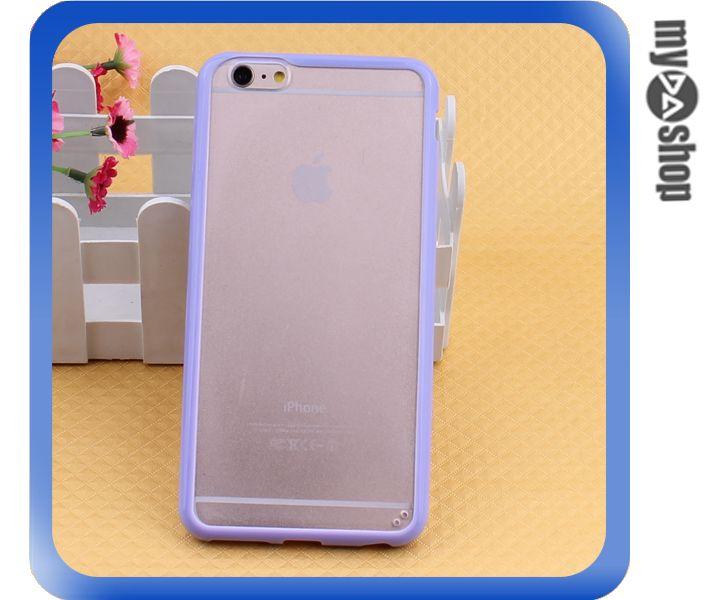 《DA量販店》蘋果 iphone6 4.7吋 糖果色 PC+TPU 透明 磨砂 手機殼 紫色(80-1549)