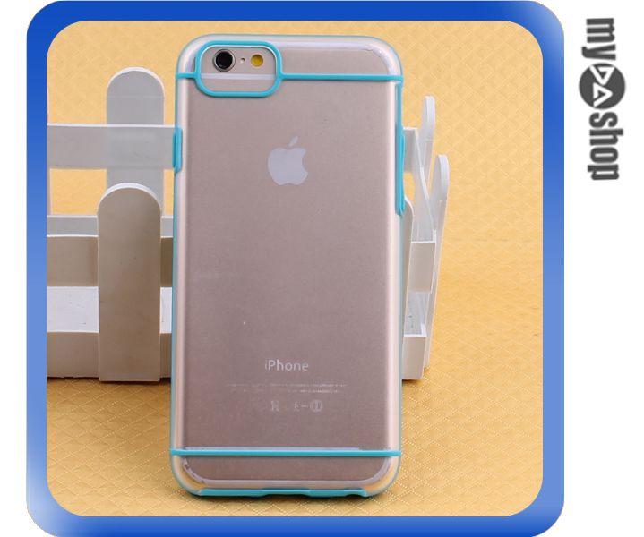 《DA量販店》蘋果 iphone6 4.7吋 PC 磨砂 霧面 硬殼 手機殼 藍色(80-1605)