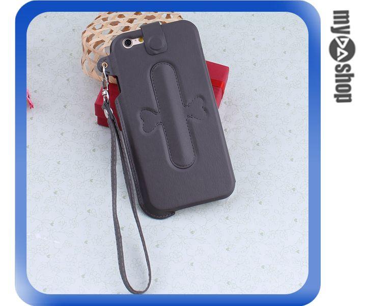 《DA量販店》iphone6 手機套 皮套 U型支架 掛繩 保護套 touch-U 深棕色(80-1648)