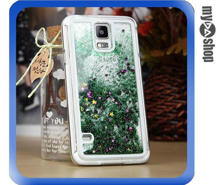《DA量販店》三星 Samsung S5 動態 閃亮 流星 流沙 星砂 手機殼 綠色(80-1683)