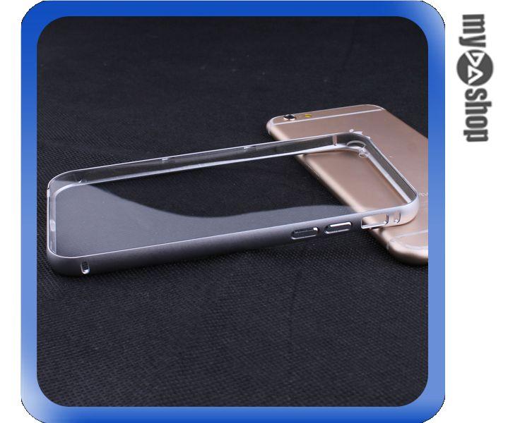 ~DA量販店~iphone6 4.7吋 金屬框 滑蓋式 PC 透明 背板 手機殼 銀^(8