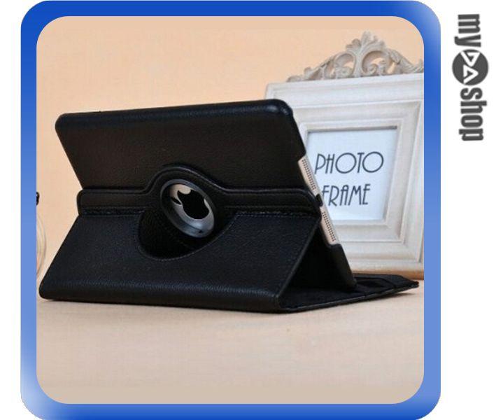《DA量販店》Apple iPad Air2 可立 360度 旋轉 休眠 皮套 黑色(80-2019)