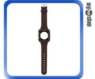 《DA量販店》Apple watch sport 42mm 矽膠套 保護殼 錶帶 棕色(80-2045)
