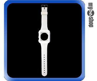 《DA量販店》Apple watch sport 42mm 矽膠套 保護殼 錶帶 白色(80-2051)