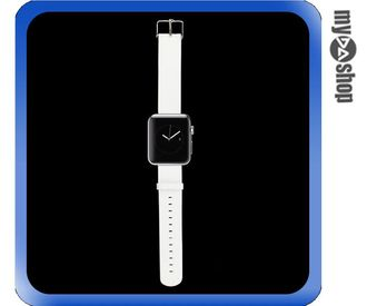 《DA量販店》Apple watch 皮質 錶帶 38mm 白色 附工具(80-2062)