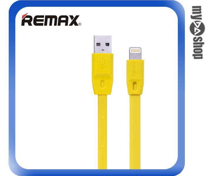《DA量販店》REMAX 全速線 IPHONE6 5S 5 充電線 扁線 黃色 1M(81-0152)