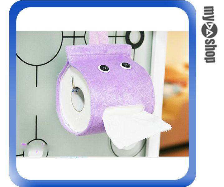 《DA量販店》可愛 生活 浴室 捲筒式 面紙盒 衛生紙盒 紙巾套 面紙套 紫色(V50-0111)