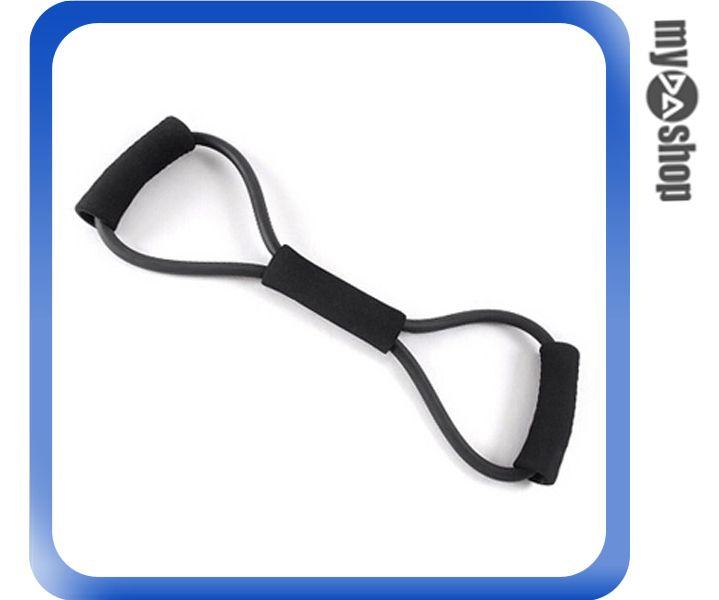 《DA量販店》8字拉力器 健身 擴胸 減肥 運動 拉力繩 瑜伽 塑身 30磅 黑色(V50-0221)