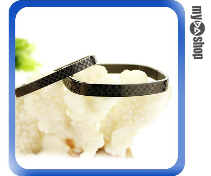 《DA量販店》日韓 時尚 精品 簡約 鈦鋼 男士 格子 手環 手鍊 咖啡色(V50-0260)