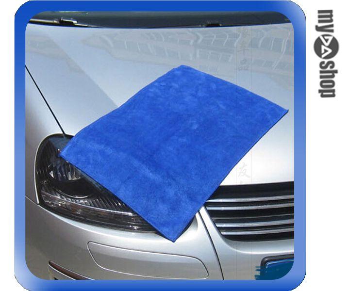 ~DA量販店~汽車 加厚 吸水 毛巾 擦車巾 洗車布 寵物 30^~40 藍色^(V50~
