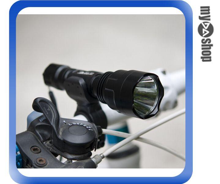 ~DA量販店~LED T6 騎行套裝版 手電筒 自行車 前燈 U型夾 充電電池 座充^(V